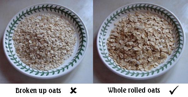 Broken oats no Whole oats yes