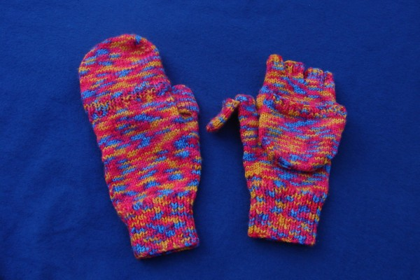 matching fingerless/mitten gloves