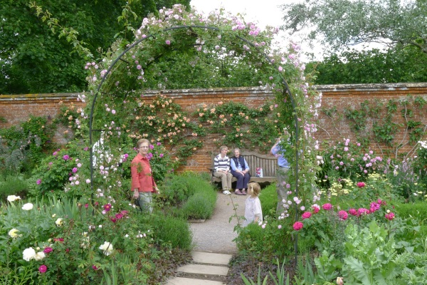 Rose arch at Mottisfont