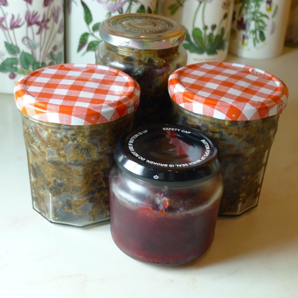 Mincemeat and cranberry sauce