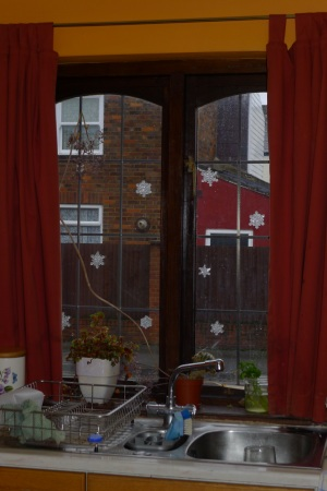 Kitchen snowflakes