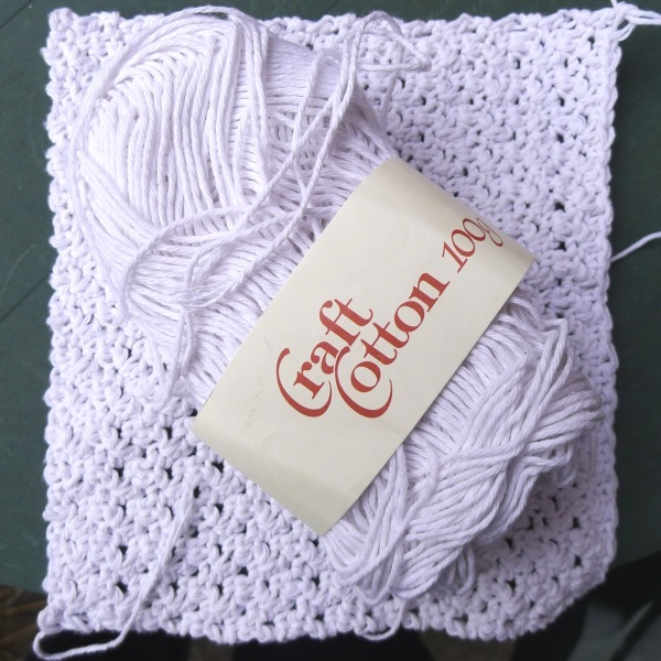 Dishcloth from craft cotton