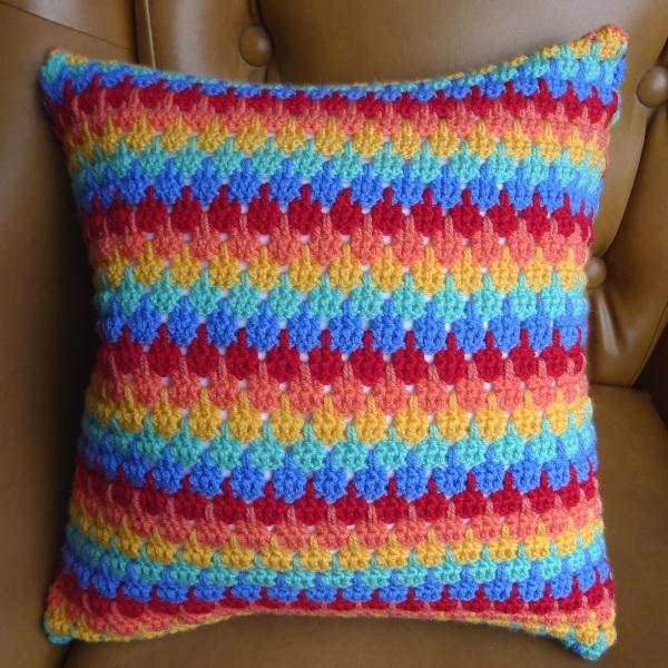 Rainbow Cushion Knitting Pattern : My first crochet cushion   Rainbow Junkie
