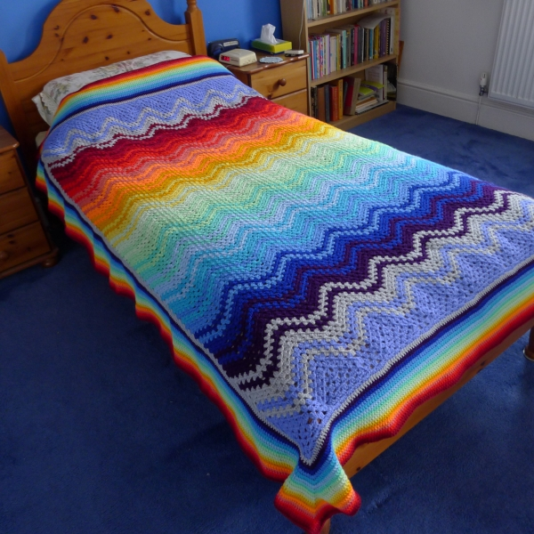 Devising A Temperature Scarf Rainbow Junkie Delectable Crochet Temperature Blanket Pattern