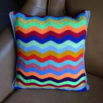 ripple pattern cushion