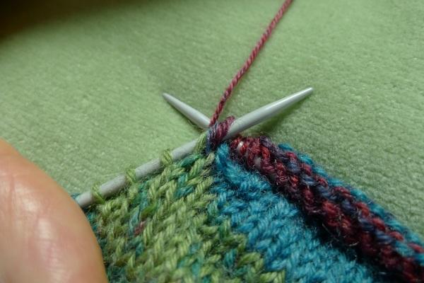 Yarn over needle