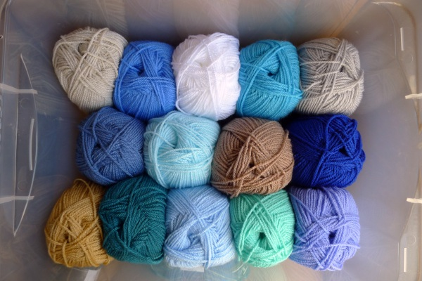 Yarn bought for blanket