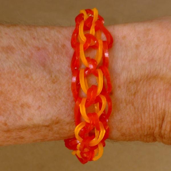 Dragon scale bracelet being worn