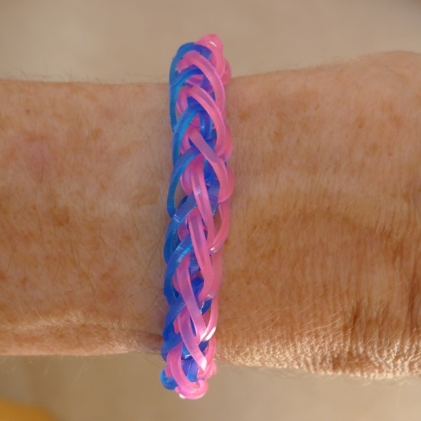 French braid bracelet being worn