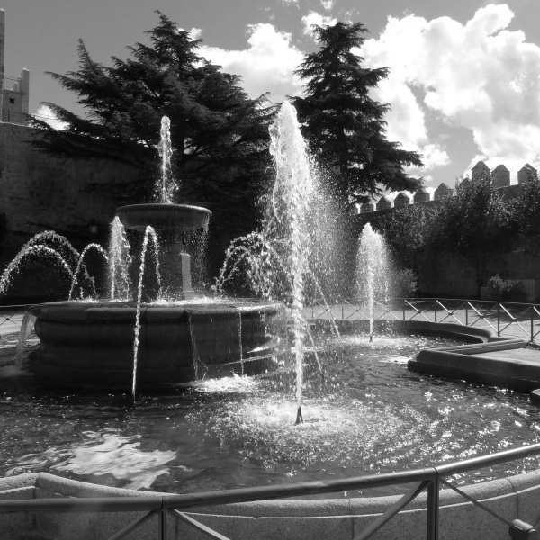 Fountain - monochrome