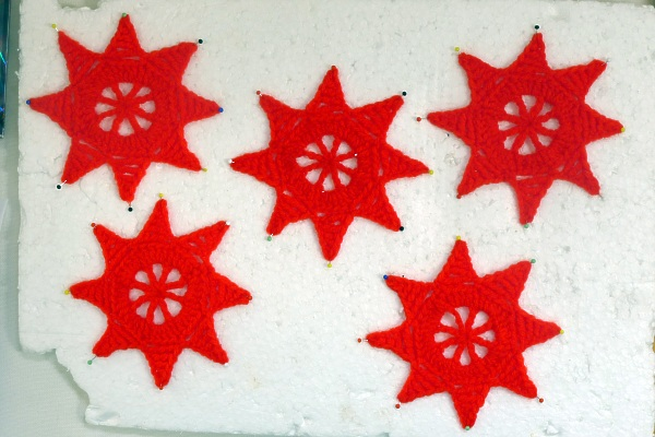 Red stars pinned
