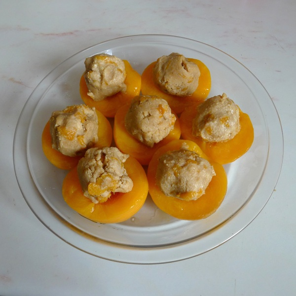 Peaches filled
