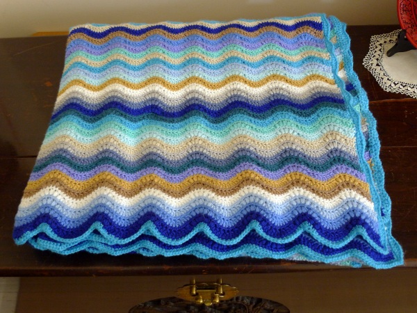 The finished ripple blanket