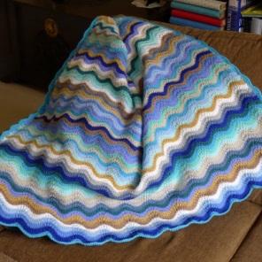 Ripple blanket on settee