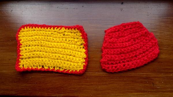Two crochet blankets