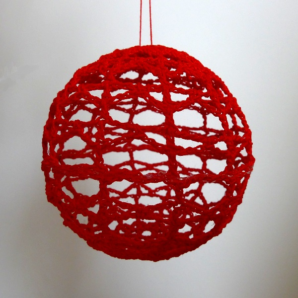 Finished red bauble