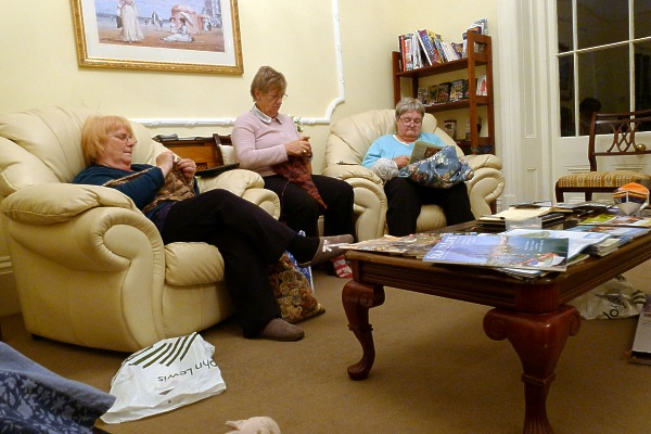 Knitting in the sitting room