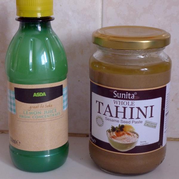 Lemon juice and tahini