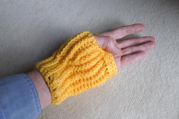 Mitten on left hand