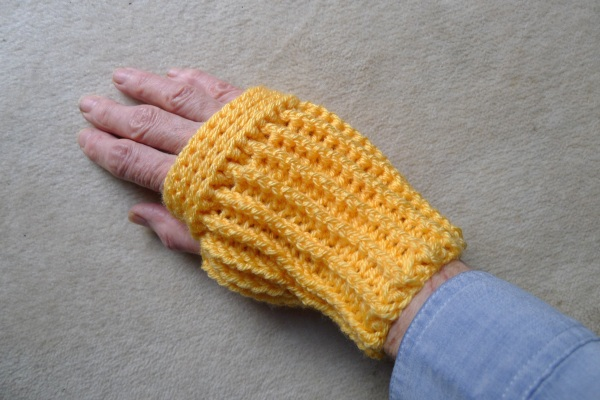 Mitten on right hand