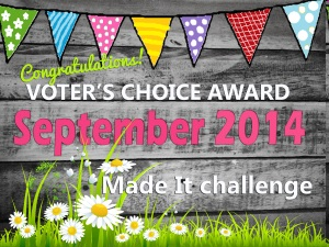 Made it Challenge - voters' choice award.
