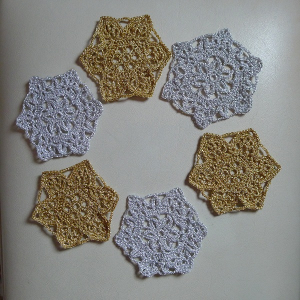 Finished snowflakes