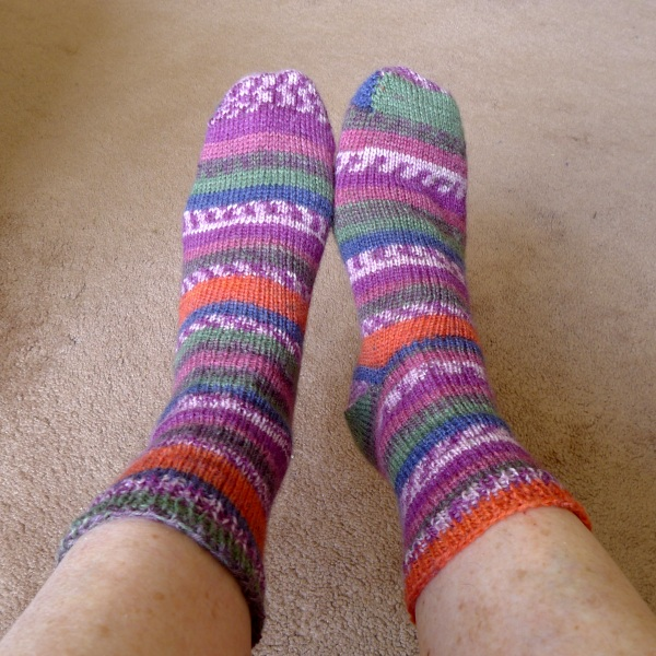 Patterned socks as they look to me
