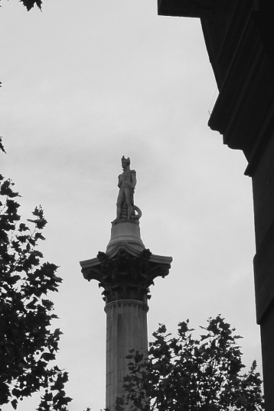 Week 30: Nelson on his column, Trafalgar Sqare, London. I liked the unusual view. It suggested the loneliness of command to me.