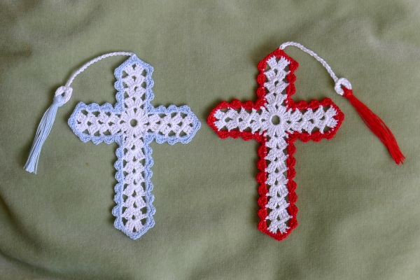 Cross bookmark two patterns rainbow junkie here ccuart Gallery