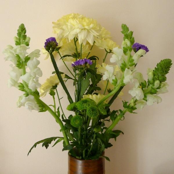 Flowers in sitting room