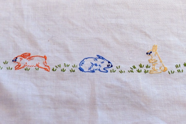 Embroidered bunnies