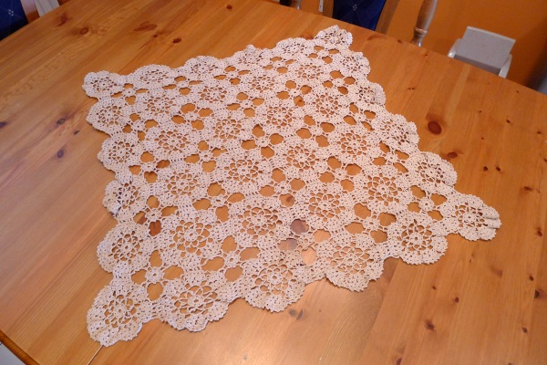 Mother's crochet cloth