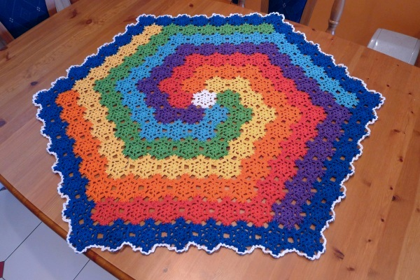 Rainbow spiral cloth