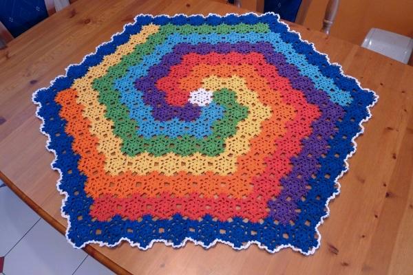 Rainbow spiral cloth