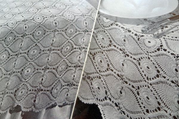 Bedcover or tablecloth motifs
