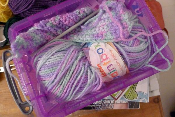 Crochet doll's blanket