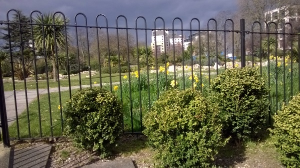 Round topped railings