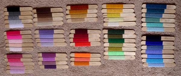Choosing colours for a newblanket