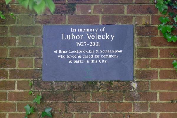 Lubor Velecky plaque