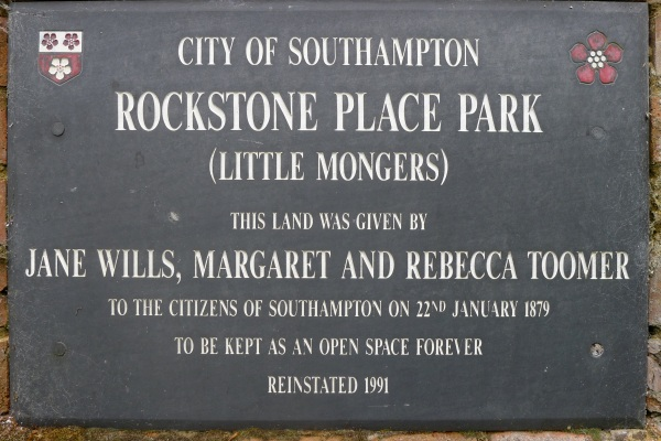 Park name plaque