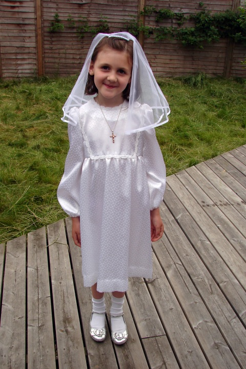 Louisa's first communion