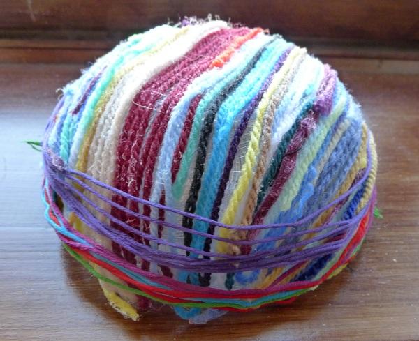 Yarn wound round