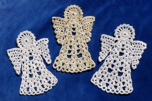Three angels for bookmarks
