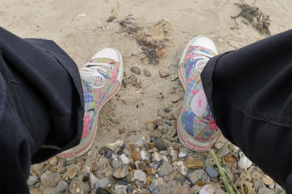 I sat on some pebbles