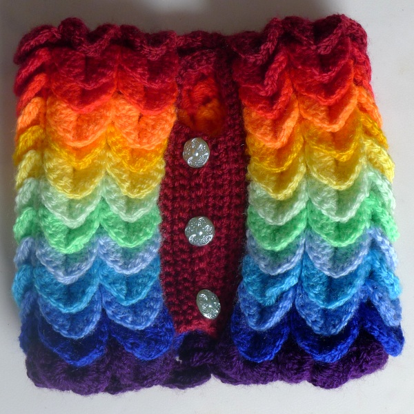 Rainbow cosy back