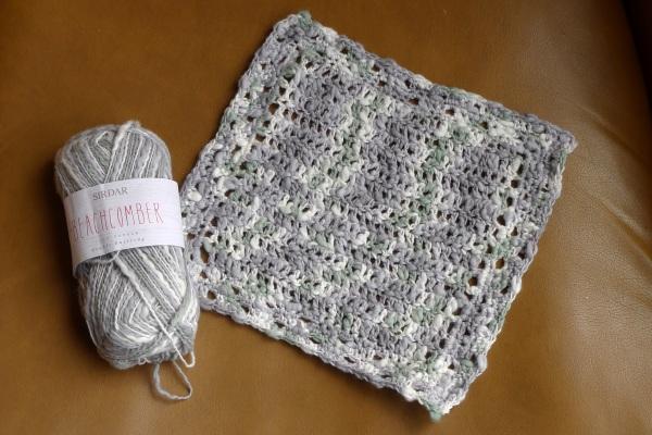 Dishcloth from Sirdar Beachcomber yarn