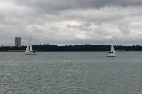 People out sailing