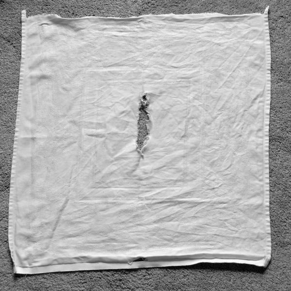 Torn napkin