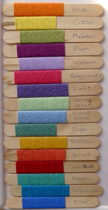 Colours of first rows