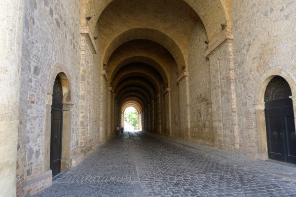 Arched walkway at Esztergom